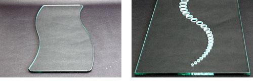 CNCガラス研磨機によるサンプル